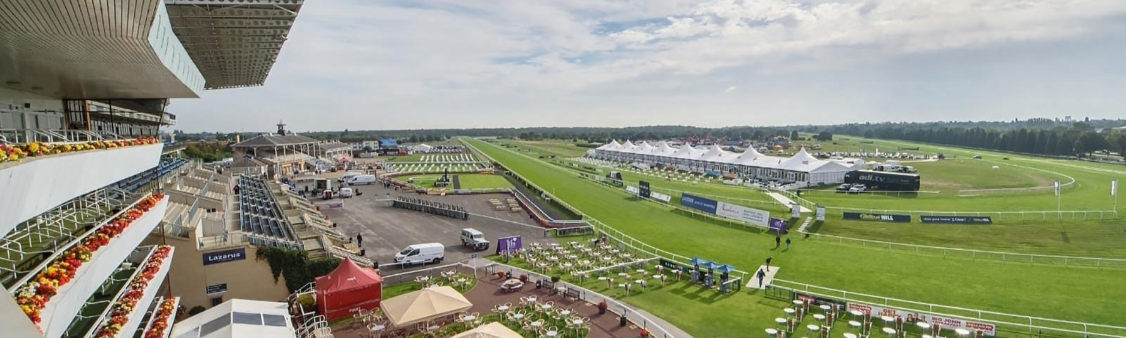 A wide angle view of Doncaster Racecourse