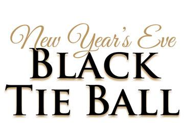 Promotional banner for a Black Tie Ball at Doncaster Racecourse.